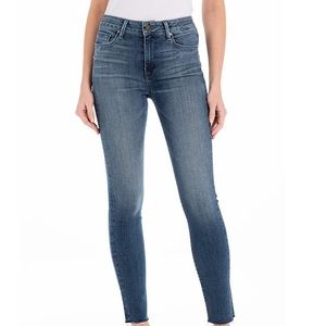 Uniqlo Blue Wash Skinny Ankle Whiskered Jeans